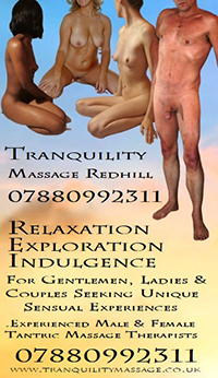 Tranquility massage redhill surrey naturist nude gents ladies couples sensual tantric
