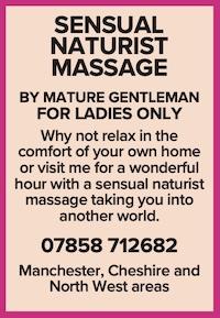 mature ladies naturist massage naked nude masseur gentleman south manchester cheshire north west
